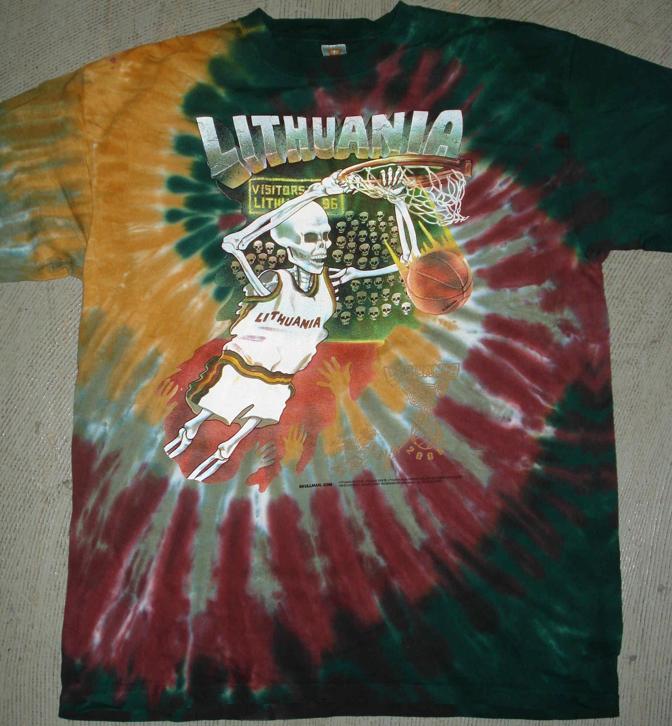 Lithuania Tie Dye T Shirts